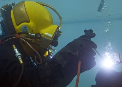 Techno Dive - diving vessel for subsea operations - underwater welding