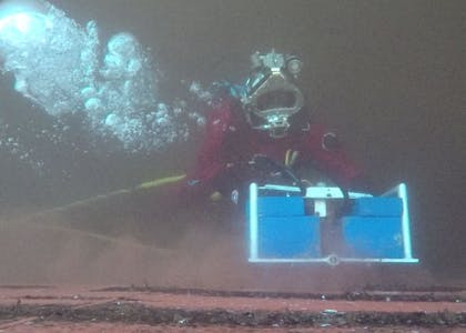 Techno Dive - diving vessel for subsea operations - diving hull cleaning