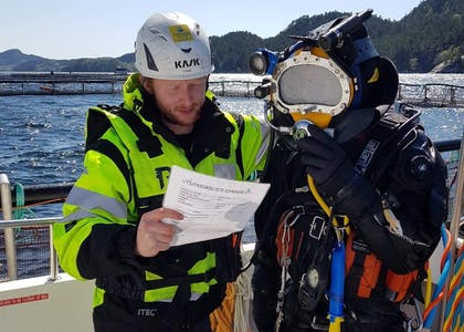 Techno Dive - diving vessel for subsea operations - aquaculture