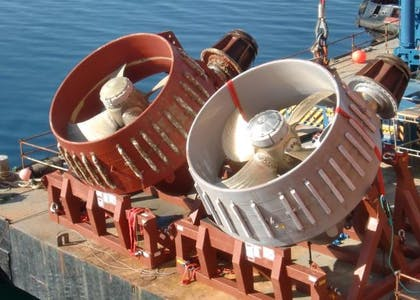 Techno Dive - diving vessel for subsea operations - thruster